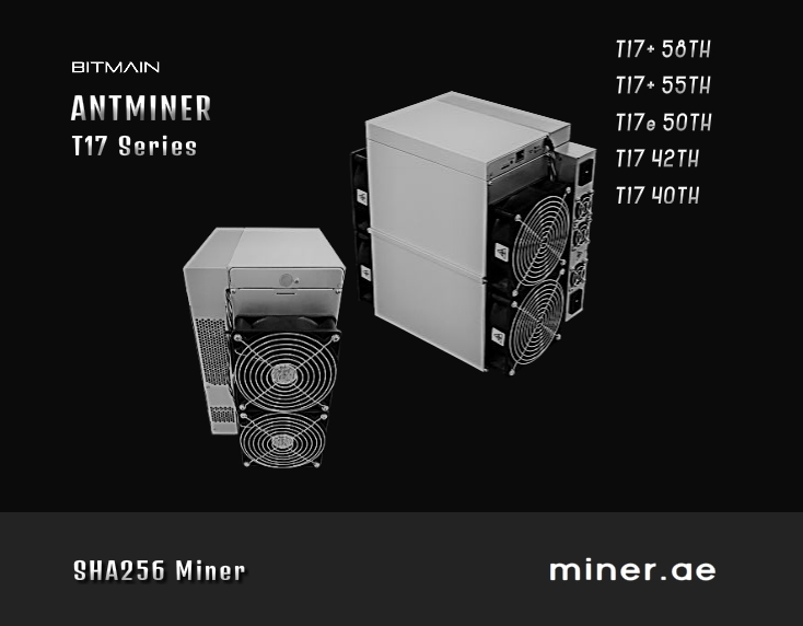 Bitmain Antminer T17+ 70TH Bitcoin Miner Crypto Mining in Dubai